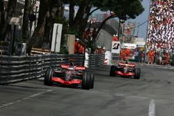 Fernando Alonso, McLaren Mercedes, MP4-22 and Lewis Hamilton, McLaren Mercedes, MP4-22