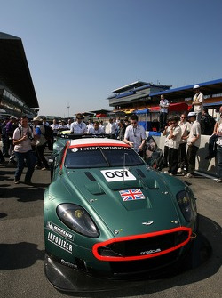 Aston Martin Racing Aston Martin DBR9 heads to scrutineering