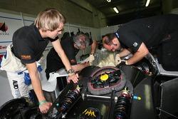 Norbert Siedler with Kruse Motorsport team members