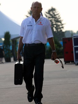 Ron Dennis, McLaren, Team Principal, Chairman arrives at the track