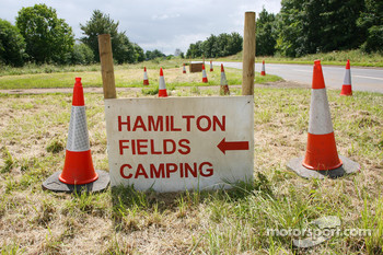 Signage for Camping at Hamilton Fields