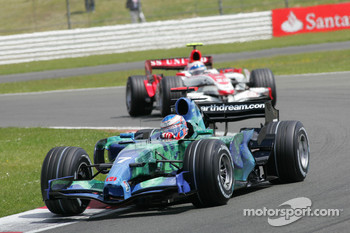 Jenson Button, Honda Racing F1 Team, RA107 and Anthony Davidson, Super Aguri F1 Team, SA07