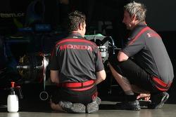Honda Racing F1 Team mechanics