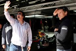 Quentin Tarantino, American Film Director and David Coulthard, Red Bull Racing