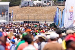 Crowd in the paddock