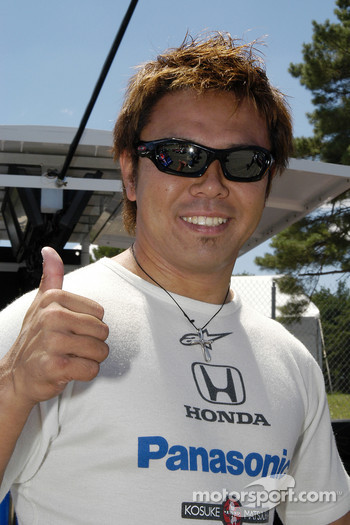 Kosuke Matsuura was having fun before the race