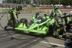 Scott Sharp pit stop wing adjustment