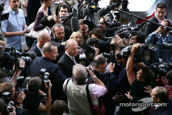 Ron Dennis, McLaren, Team Principal, Chairman arrives