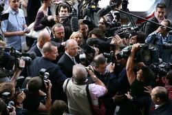 Ron Dennis, McLaren, Team Principal, Chairman arrives