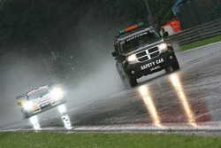 Safety car in the heavy rain