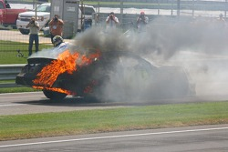 Jimmie Johnson on fire