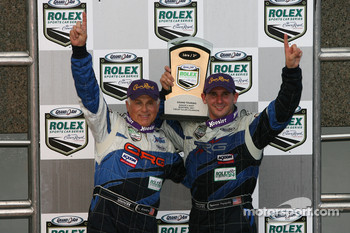 GT podium: class winners RJ Valentine and Andy Lally