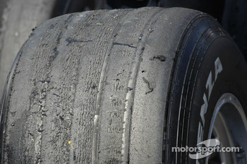 A used Bridgestone tire