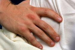Nick Heidfeld's hand