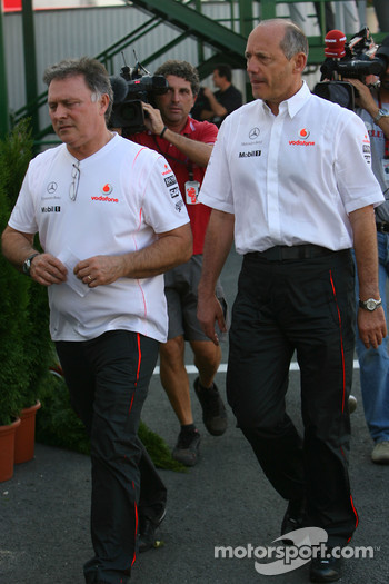 Ron Dennis leaves race control