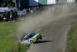 Scary moment for Mikko Hirvonen and Jarmo Lehtinen