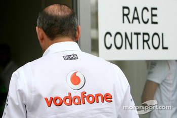 Ron Dennis, McLaren, Team Principal, Chairman at Race Control