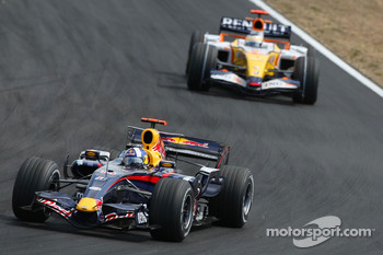 David Coulthard, Red Bull Racing, RB3 and Giancarlo Fisichella, Renault F1 Team, R27