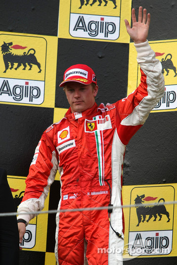 Podium: second place Kimi Raikkonen