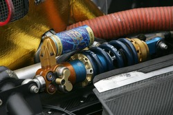 Suspension detail of #61 AIM Autosport Lexus Riley