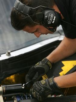 Riley-Matthews Motorsports team member at work
