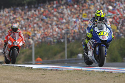Valentino Rossi and Loris Capirossi