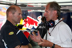 Adrian Newey, Red Bull Racing, Technical Operations Director and Helmut Marko, Red Bull Racing, Red Bull Advisor