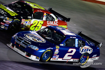 Kurt Busch and Casey Mears battle