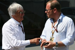 Bernie Ecclestone and Alex Shnaider, Team owner of the former Midland F1 Team