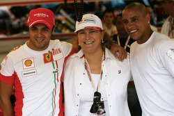 Felipe Massa, Scuderia Ferrari and Roberto Carlos, Fenerbahce football player