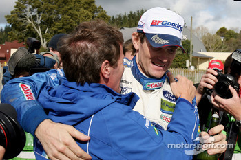 Winner Marcus Gronholm and Malcolm Wilson, Director Ford Rally Team