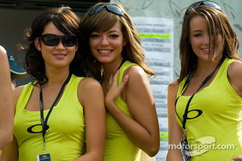 The charming California Speedway Girls