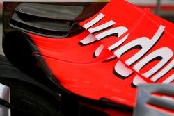 McLaren Mercedes rear wing detail