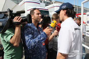 Kai Ebel in an interview with Robert Kubica,  BMW Sauber F1 Team