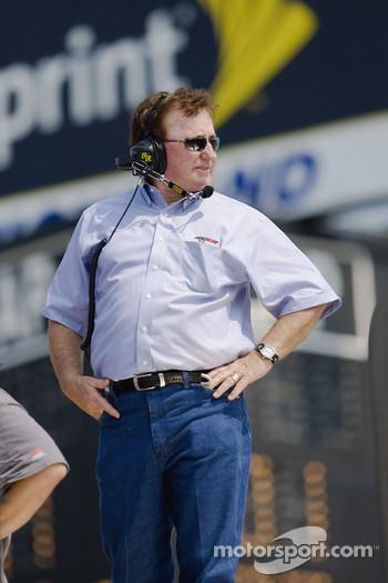 Richard Childress watches his race teams practice