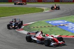 Ralf Schumacher, Toyota Racing, TF107 and Vitantonio Liuzzi, Scuderia Toro Rosso, STR02