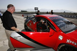 Media rides: Leighton Reese gives Pontiac GXP.R rides around the track to members of the media and VIPs
