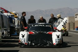 Michael Shank Racing Lexus Riley at technical inspection