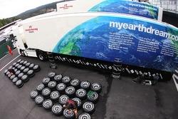 Honda Racing F1 Team trucks