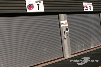 Honda Racing F1 Team closed garage