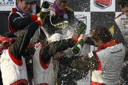 GT podium: 2007 Grand-Am Rolex Series GT champion Dirk Werner gets a massive champagne shower