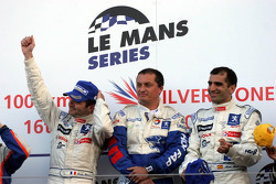 Podium: race winners Nicolas Minassian and Marc Gene