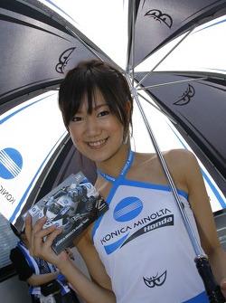 Konica Minolta Honda girl