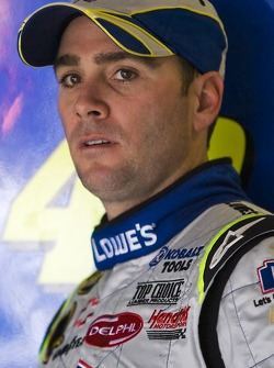 Jimmie Johnson after crashing