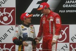 Podium: Heikki Kovalainen and Kimi Raikkonen