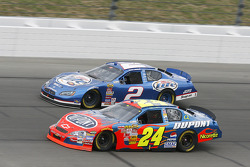 Jeff Gordon and Kurt Busch