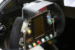 Steering wheel of the Audi Sport North America Audi R10 TDI Power