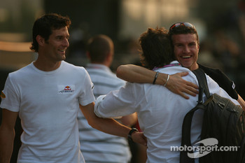 Mark Webber, Red Bull Racing and David Coulthard, Red Bull Racing