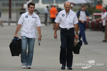 Timo Glock, Test Driver, BMW Sauber F1 Team and Peter Sauber, BMW Sauber F1 Team, Team Advisor