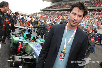 Keanu Reeves, actor with the Honda